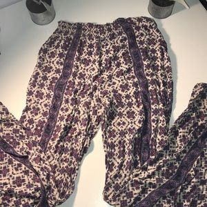 Floral flare lounge pants